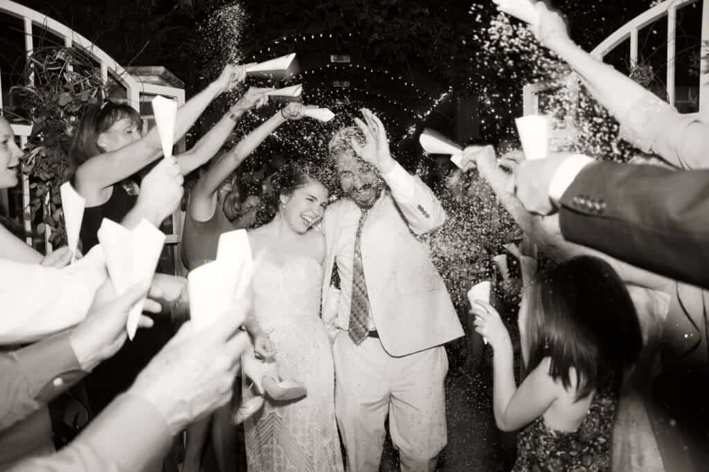 Ecofetti is water soluble confetti that renders beautiful wedding confetti tosses.