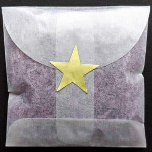 Let us make envelopes of non-toxic confetti for you, sealed with a Gold Star